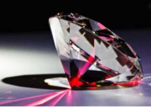 Inspection Diamond quality using high quality laser dot and line projection