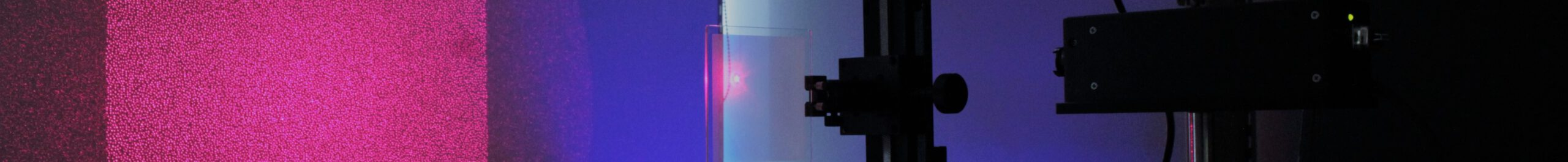 660nm (red) laser projecting through in-house designed and optimized Diffractive Optical Elements creating a Random Pattern Projection