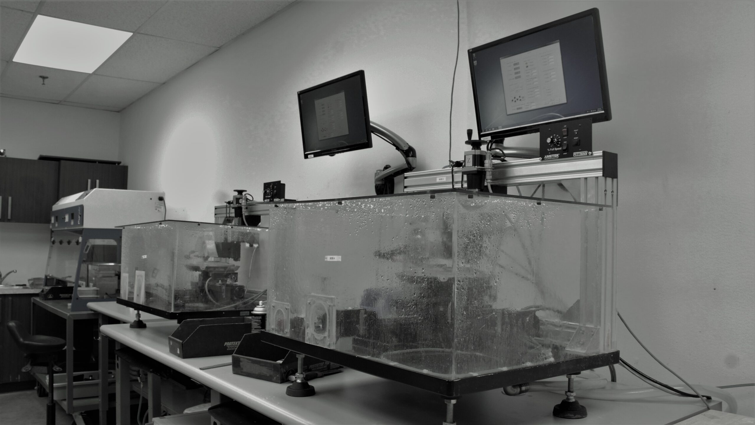 In-house designed and manufactured automated optical cutting robotic systems