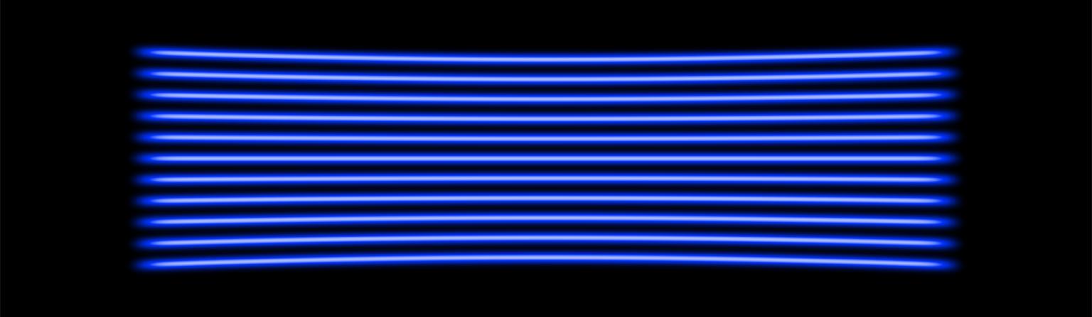 450nm (Blue) 11 line multi-line laser projection