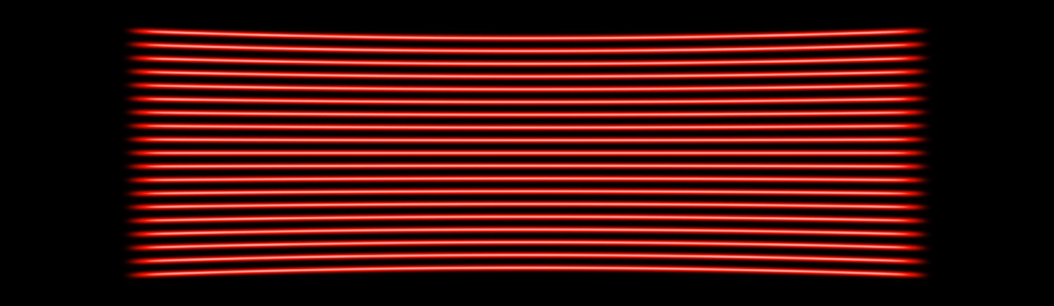 660nm (Red) 19 line multi-line laser projection