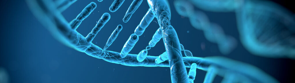 DNA strand to be analyzed with Flat top laser projector