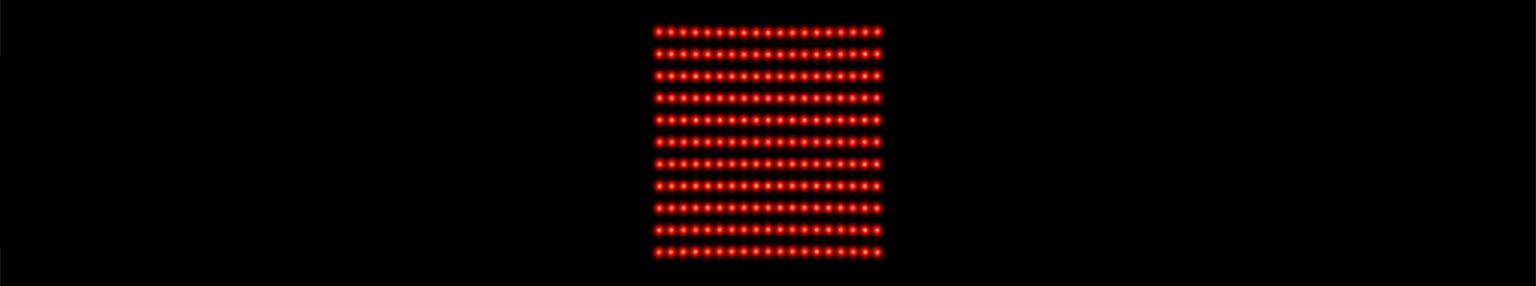 19 x 19 dot matrix laser projection