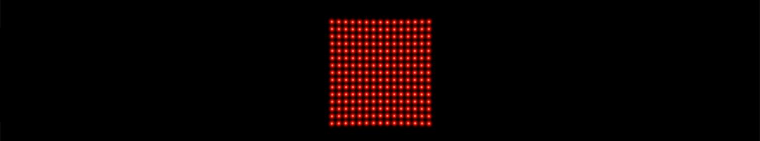 15 x 15 dot matrix laser projection