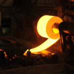 Hot Steel being rolled out in laser based inspection system
