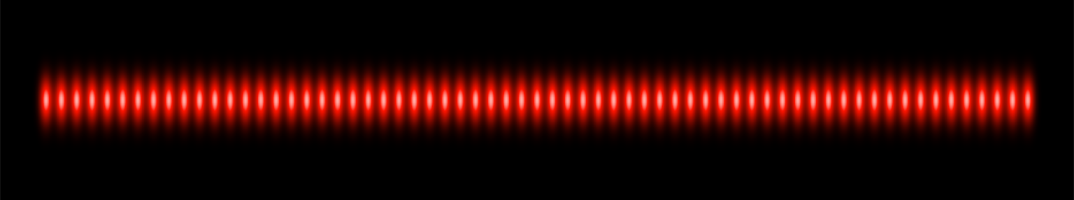 Single row multi-dot laser projection