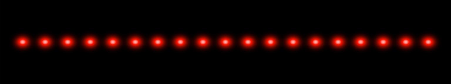 Single row 19 dot multi-dot laser projection