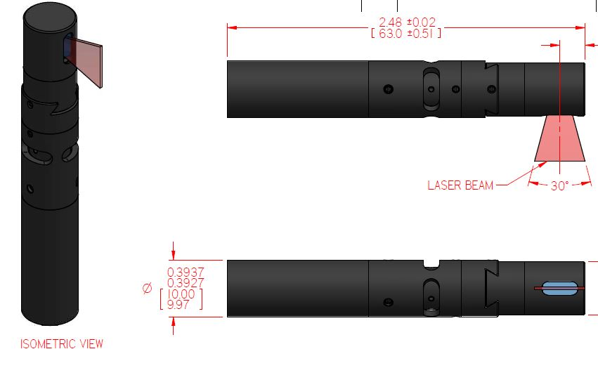 90 degree projection Elbow option for Compact Laser
